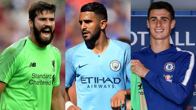 Alisson, Riyad Mahrez and Kepa Arrizabalaga were big summer transfers