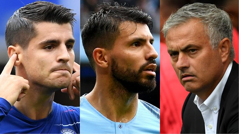 Alvaro Morata and Sergio Aguero scored over the weekend, but Jose Mourinho's Manchester United lost at Brighton