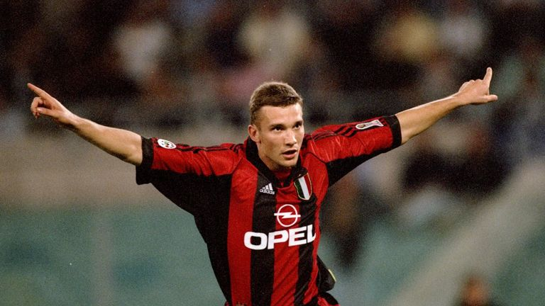 Andriy Shevchenko was a formidable goalscorer with AC Milan