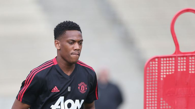 Anthony Martial has returned to pre-season training with Manchester United