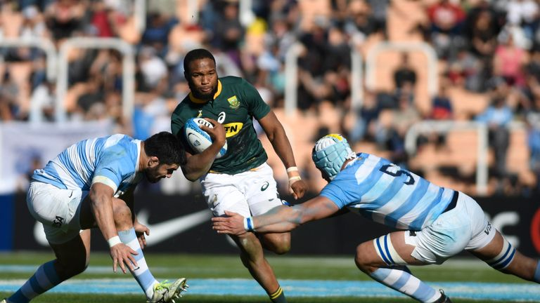 Aphiwe Dyantyi is chasing his 10th Test try on Saturday