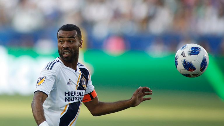 CARSON, CA - JULY 29: Ashley Cole #3 of the Los Angeles Galaxy dribbles the ball down the field at StubHub Center on July 29, 2018 in Carson, California. (Photo by Katharine Lotze/Getty Images) *** Local Caption *** Ashley Cole