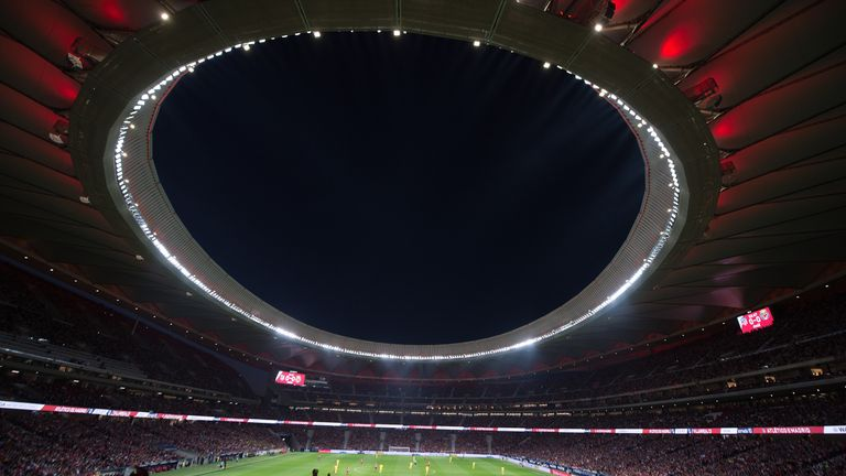 Atletico Madrid's Wanda Metropolitano will play host for the Champions League final on June 1, 2019