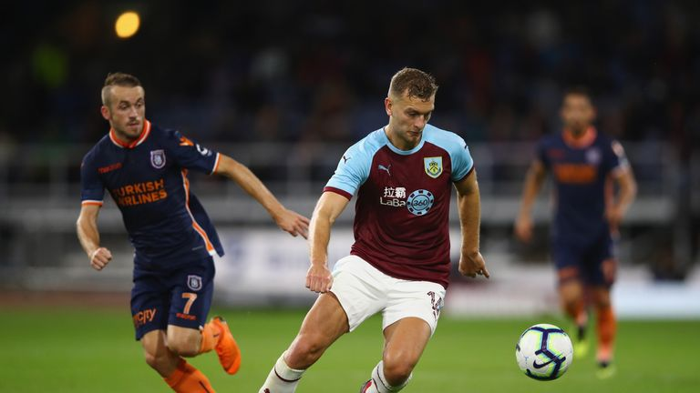 during the UEFA Europa League third round qualifier  second leg between Burnley and Istanbul Basaksehir at Turf Moor on August 16, 2018 in Burnley, England.