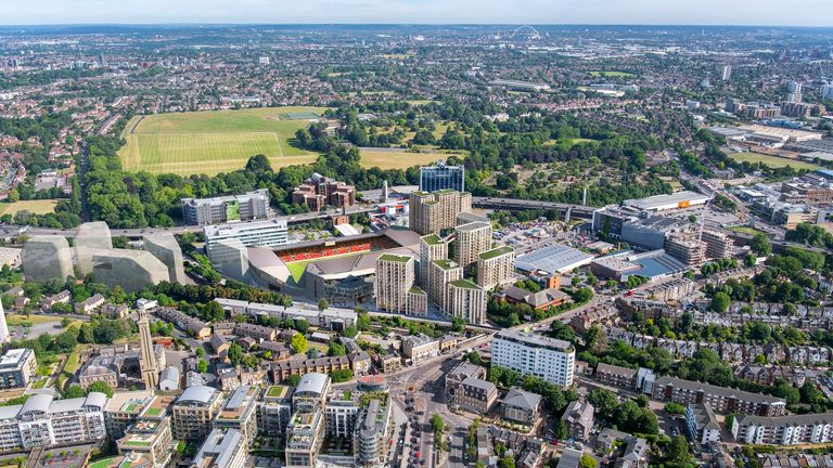 An artist's impression of Brentford's new stadium (courtesy of Brentford FC)