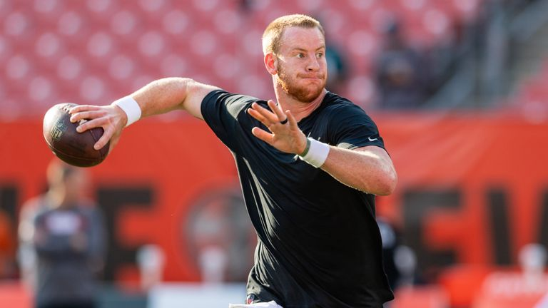 Wentz has been practicing but didn't play in the preseason