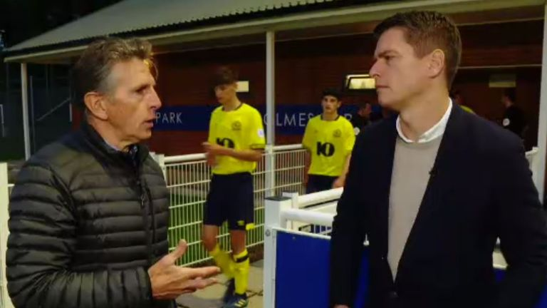 Patrick Davison joins Claude Puel as he checks in on his U23 side