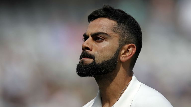 India's Virat Kohli scored 40 runs in the second Test against England