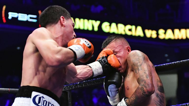 Vargas was stopped by Garcia in the seventh round