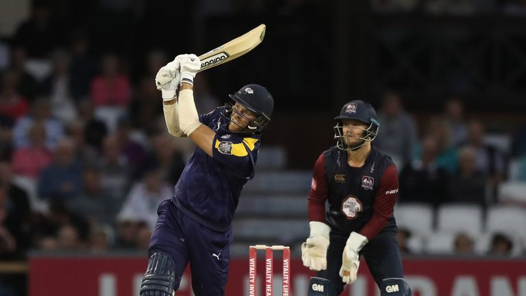 David Willey took three wickets and then hit 79 to earn Yorkshire Vikings victory against his former side Northamptonshire Steelbacks