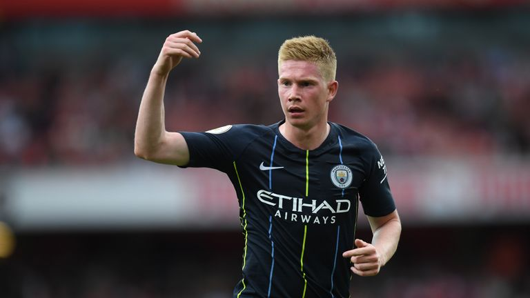 Kevin De Bruyne's only Premier League appearance this season came on the opening weekend against Arsenal