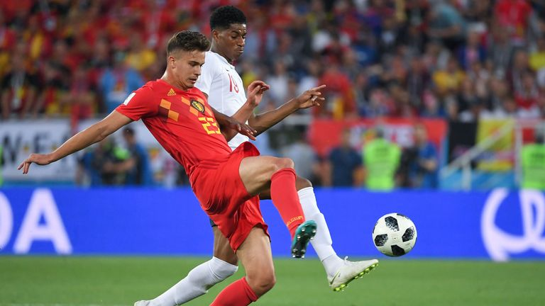 Dendoncker featured for Belgium against England at the World Cup