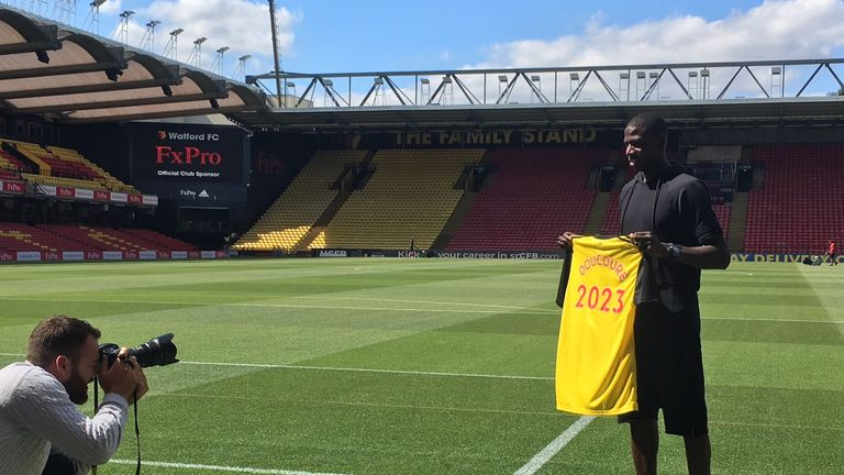 Doucoure has penned a new five-year deal at Vicarage Road