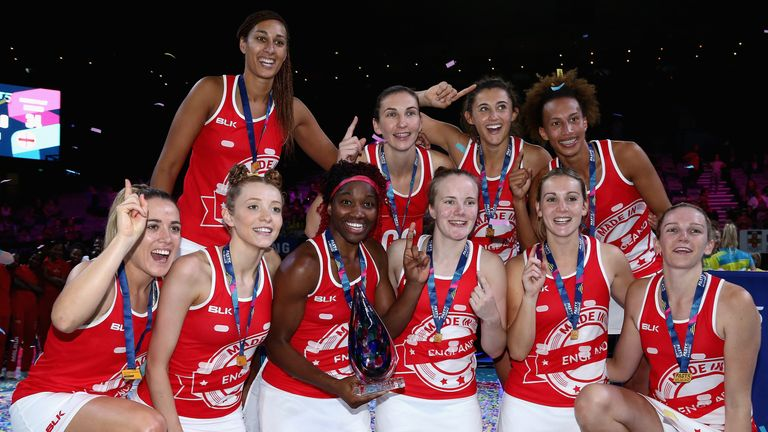 England celebrate victory in last year's Fast5 World Series