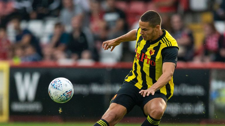 Jack Rodwell plays for Watford in pre-season friendly against Brentford