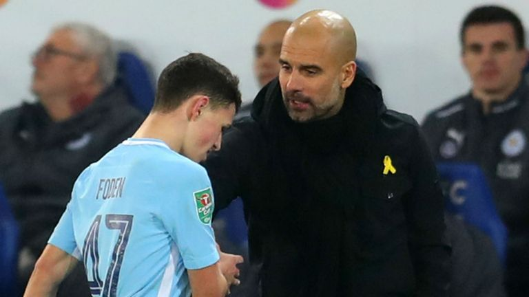 Pep Guardiola has no doubt that Phil Foden is ready to play for England at senior level
