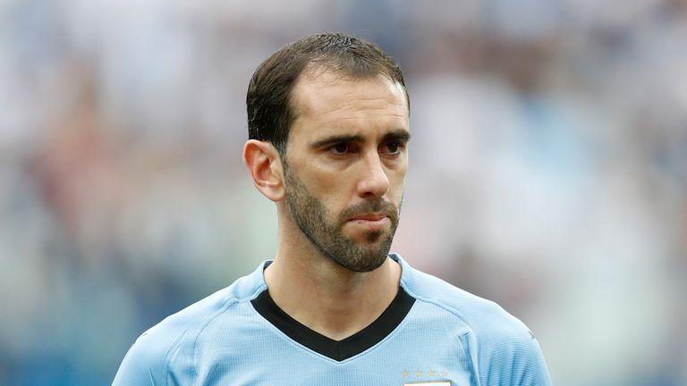 Uruguay captain Diego Godin