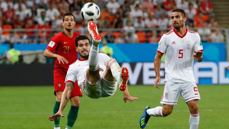 Ezatolahi made two appearances for Iran at the World Cup in Russia