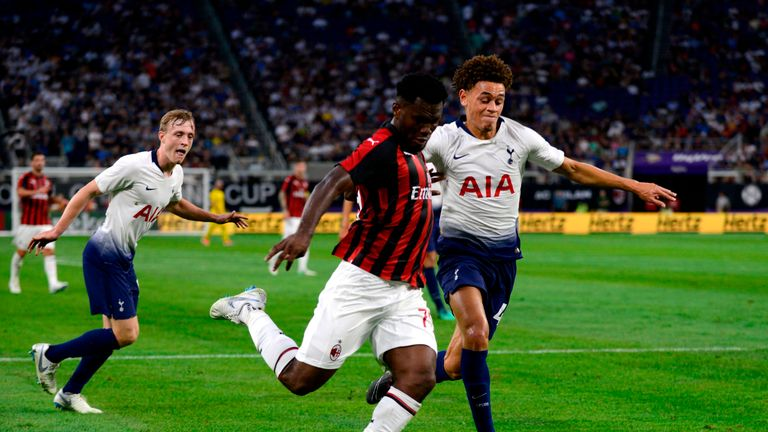 Luke Amos is set to hold contract talks with Tottenham