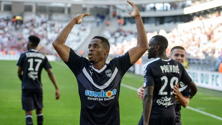 Francois Kamano scored twice for Bordeaux
