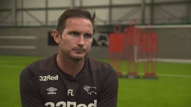 Frank Lampard sat down with Sky Sports ahead of Derby's Championship opener with Reading