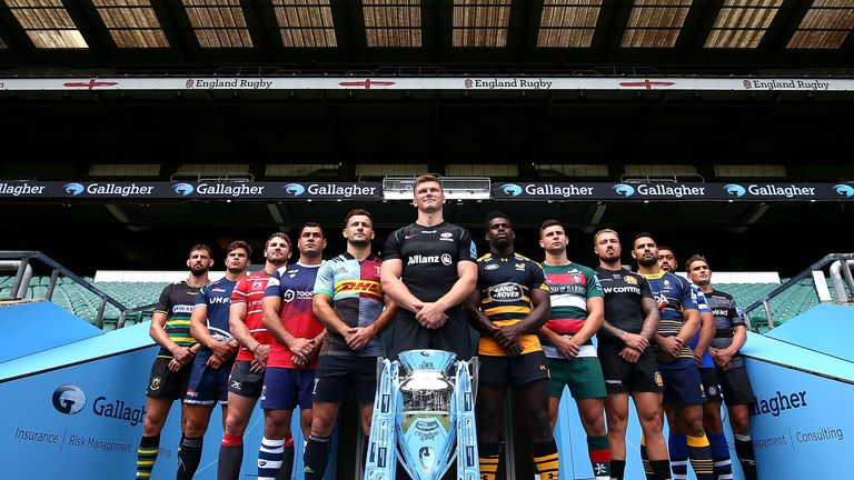 All 12 clubs represented at the 2018/19 Gallagher Premiership Season Launch at Twickenham Stadium
