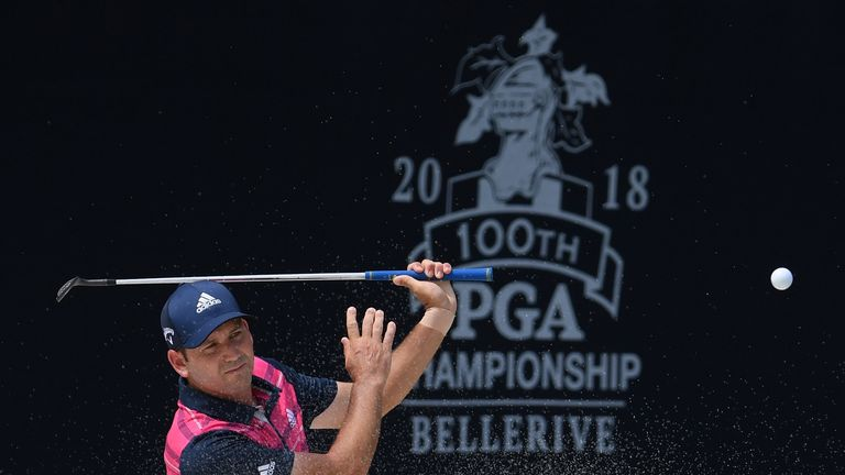 Sergio Garcia missed the cut at a major for the fifth time in a row