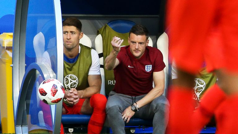 Gary Cahill and Jamie Vardy were both part of England's squad for the 2018 World Cup