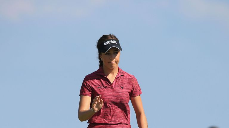 Georgia Hall mixed six birdies with a solitary blemish during the final round