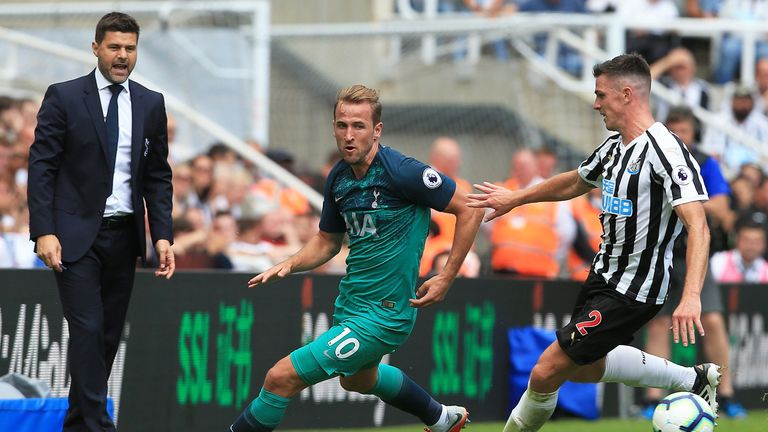 Harry Kane played the whole game but looked a little short of his best
