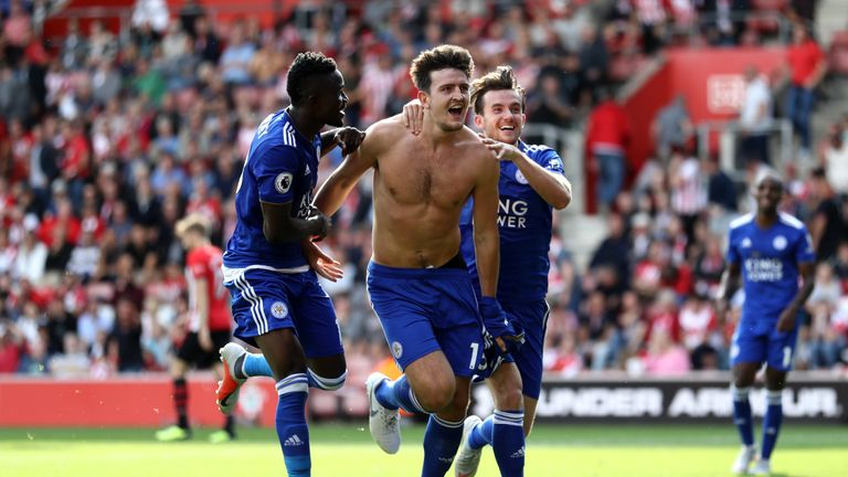 Harry Maguire scored Leicester's winner against Southampton