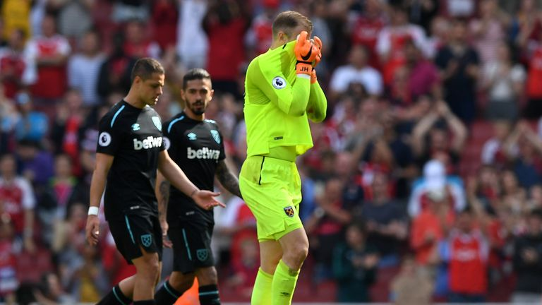 Hart made a number of high-profile errors during a loan spell at West Ham last season