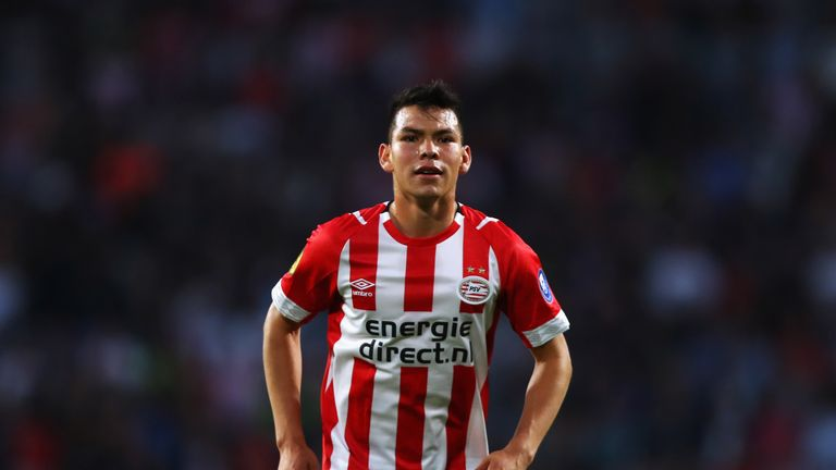 Hirving Lozano scored twice in PSV's 7-0 drubbing of ADO Den Haag