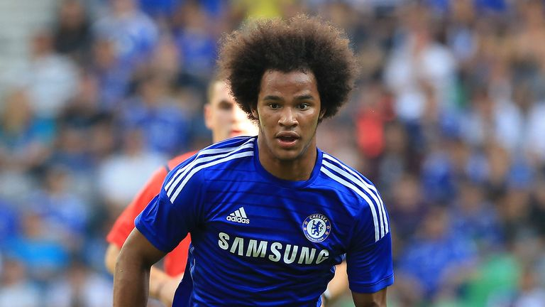 Izzy Brown of Chelsea in action during the Pre Season Friendly match between FC Olimpija Ljubljana and Chelsea at Stozice stadium in Ljubljana, Slovenia on Sunday, July 27, 2014.