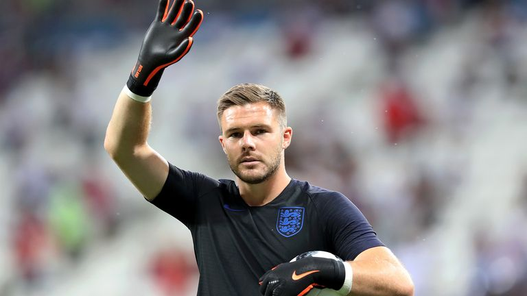 Jack Butland has eight caps in total for England