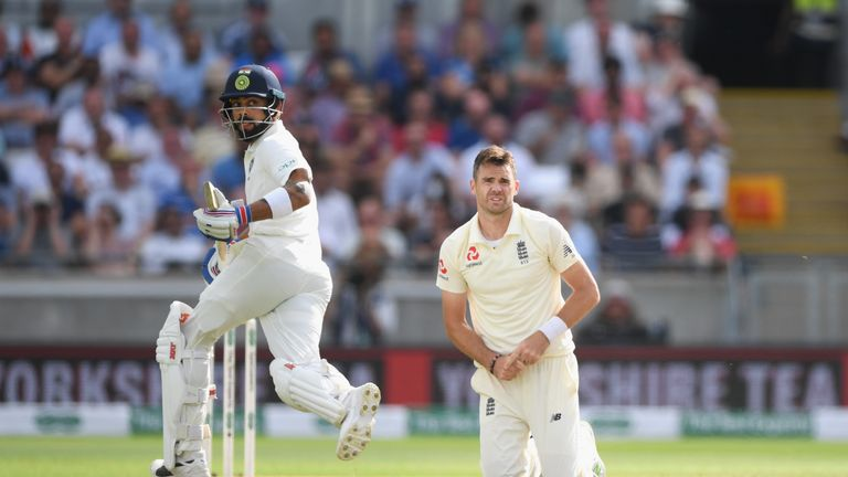 James Anderson is yet to take the wicket of Virat Kohli in this series