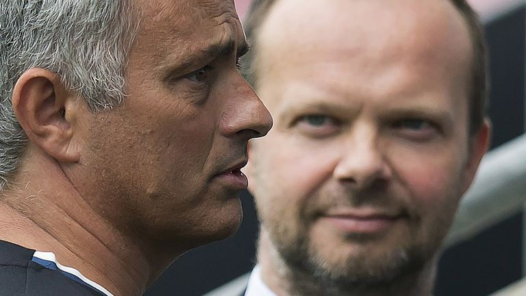 Mourinho says Ed Woodward and others at Manchester United  have sent him messages of 'respect'