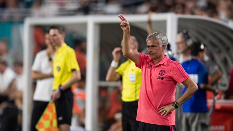Mourinho saw his Manchester United side defeat Real Madrid 2-1 in Miami