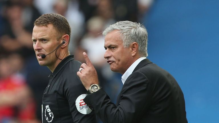 Jose Mourinho feels referee Kevin Friend should have played on for longer at Brighton