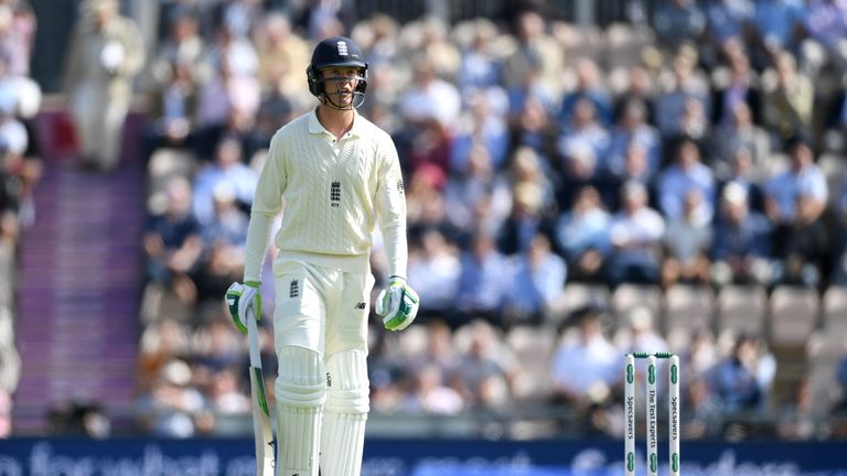 Keaton Jennings was dismissed for a duck on day one in Southampton