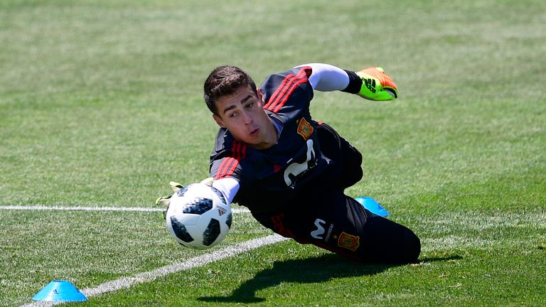 Kepa Arrizabalaga was named in Spain' World Cup squad