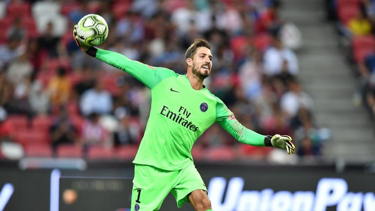 Kevin Trapp has returned to Eintracht Frankfurt for the season