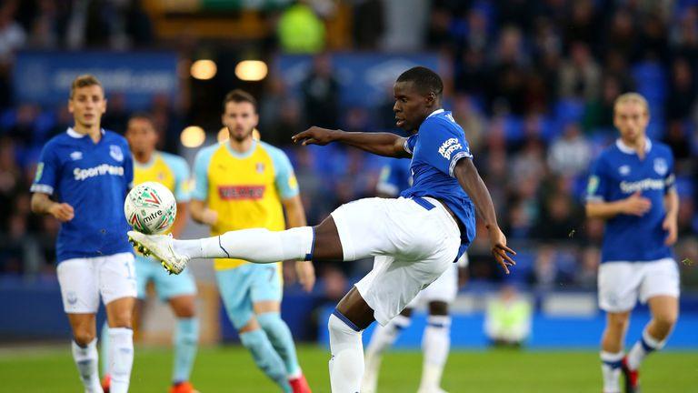 Kurt Zouma is on loan at Everton