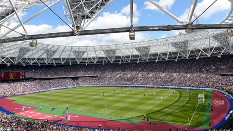 West Ham's solution to the disagreement over the new track cover's colour (Image c/o West Ham United FC)