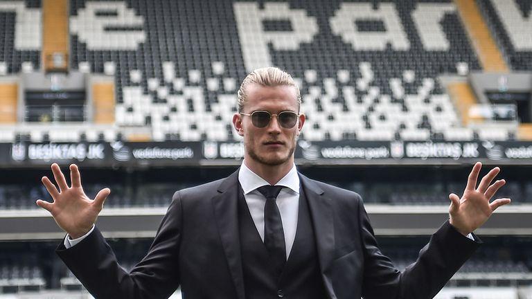 Loris Karius was unveiled by Besiktas on Wednesday