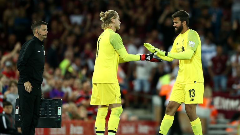 Loris Karius received a warm welcome from the Anfield faithful