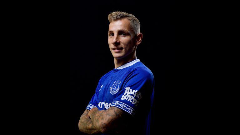 Everton unveil new signing Lucas Digne
