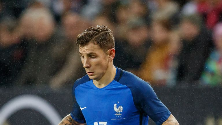 Lucas Digne was on standby for France during this summer's World Cup finals in Russia.