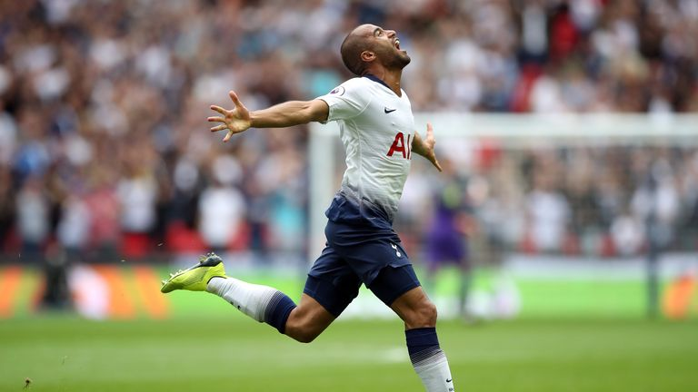 Lucas Moura's goal was his first in the Premier League