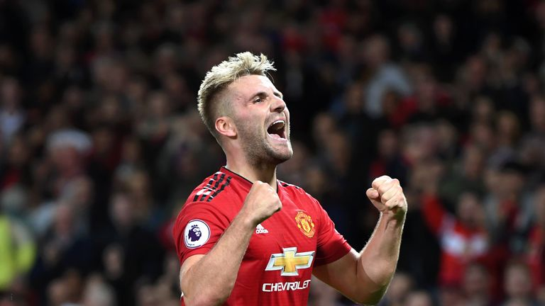 Luke Shaw has started seven of Manchester United's eight Premier League games so far this season